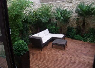 une terrasse exotique